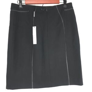 Elie Taharie black professional straight skirt 10